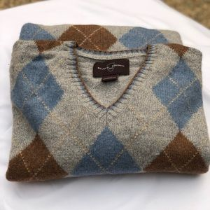 NW Black Brown 1926 Lamb Wool Sweater, Sz M